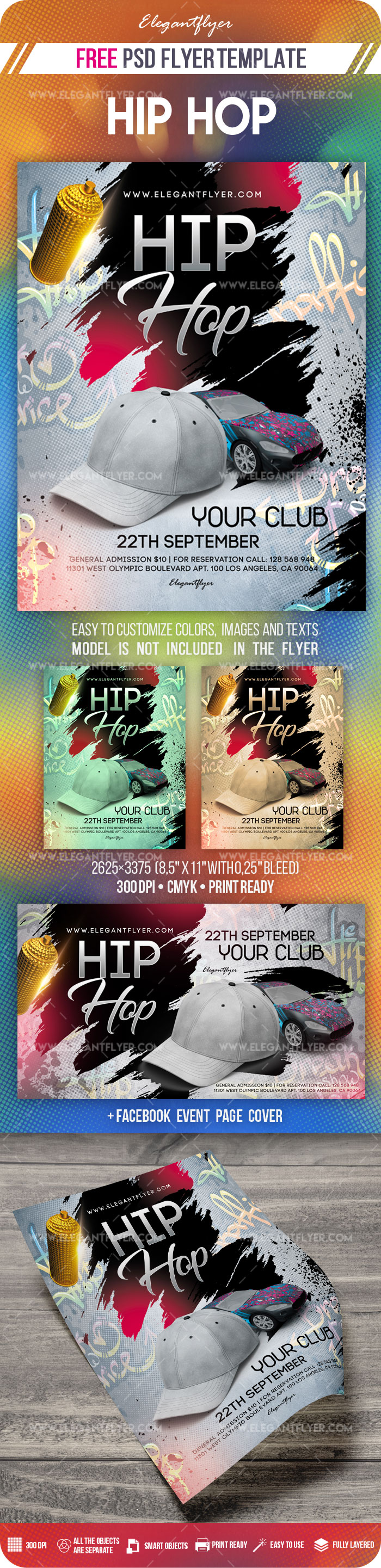 Hip Hop – Free Flyer PSD Template