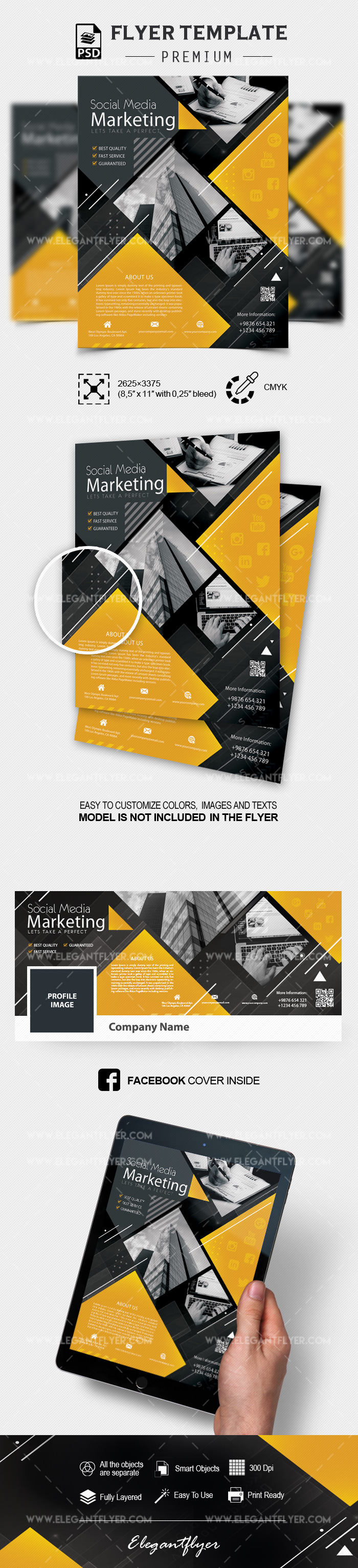 Social Media Marketing – Flyer PSD Template