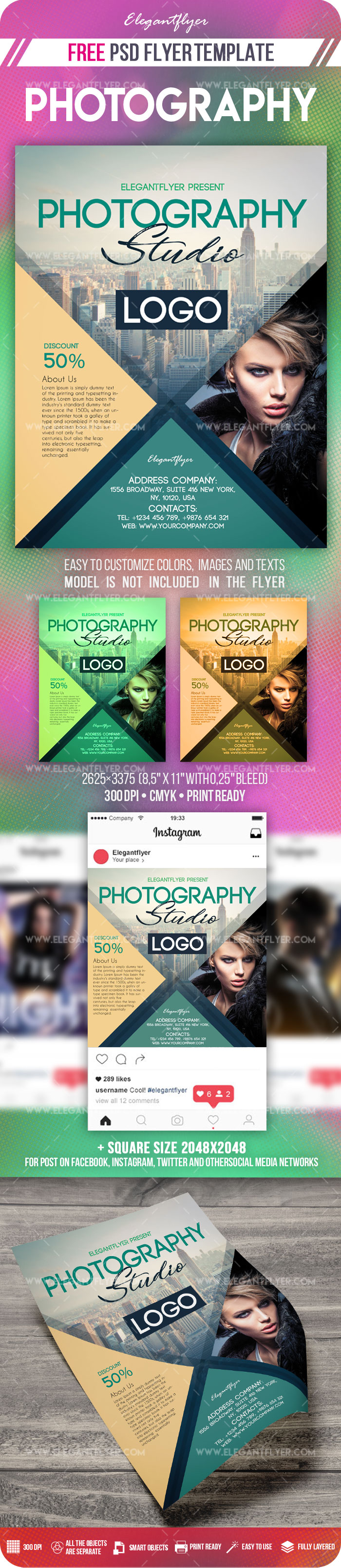 Photography - Flyer PSD Template + Instagram template - by ...