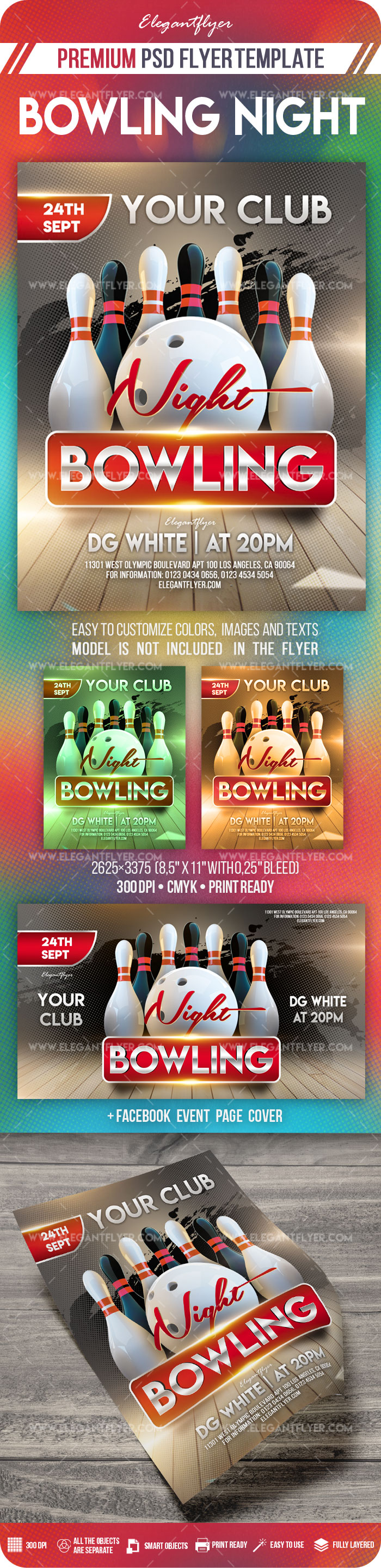 Bowling Night – Flyer PSD Template