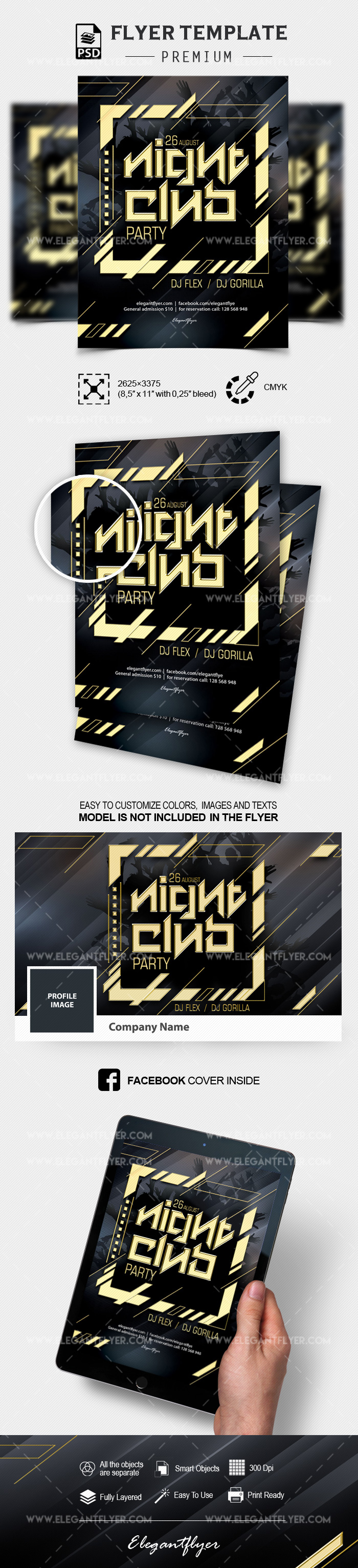 Night Club Party – Flyer PSD Template