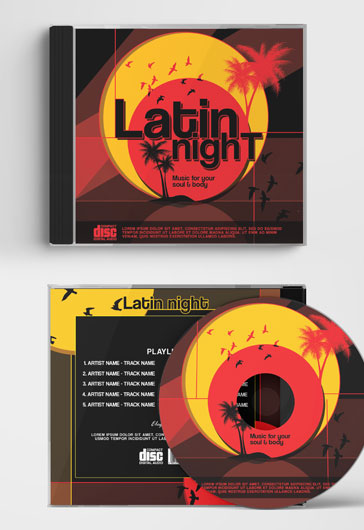 Latin night – CD Cover Template