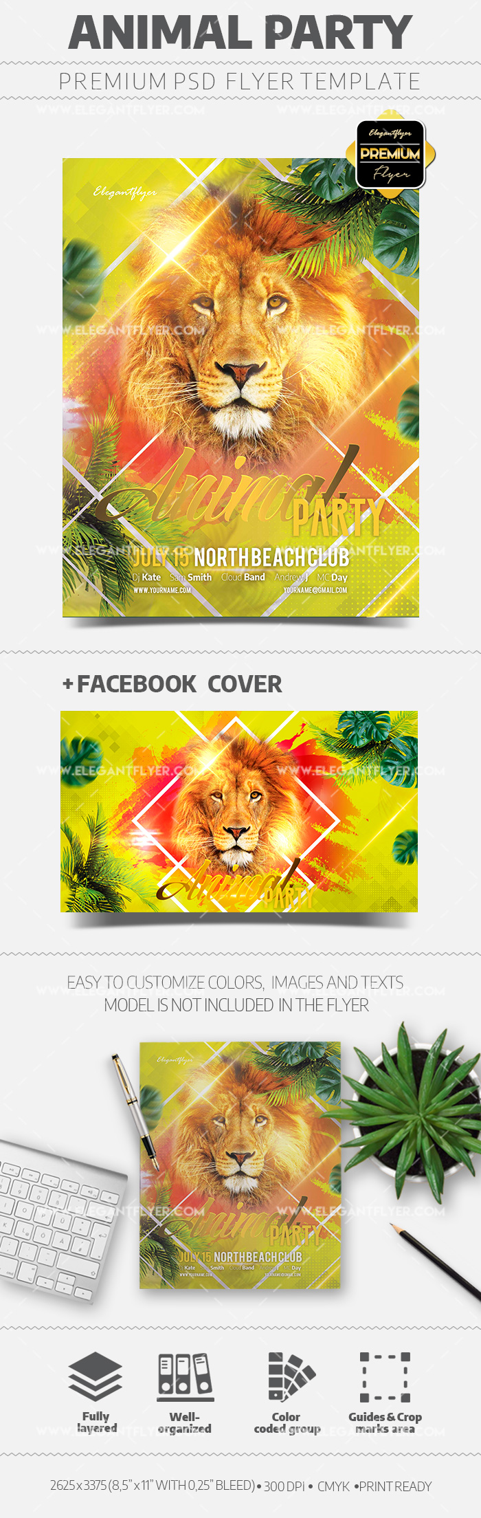 Animal Party – Flyer Template