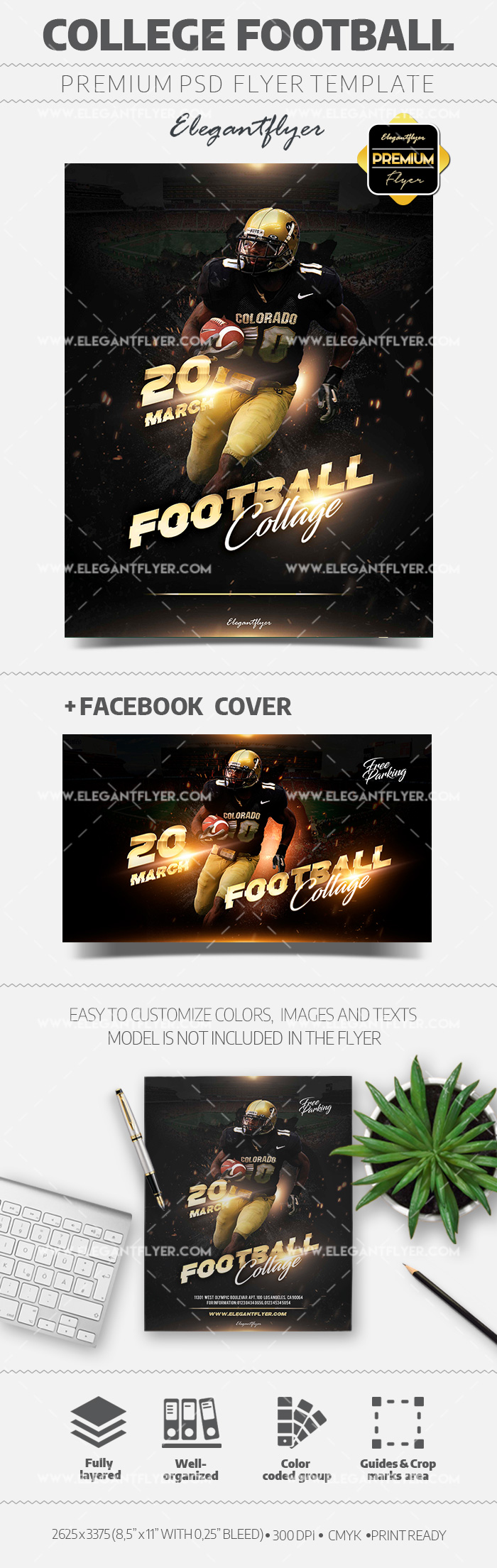 Sunday College Football – Flyer Template