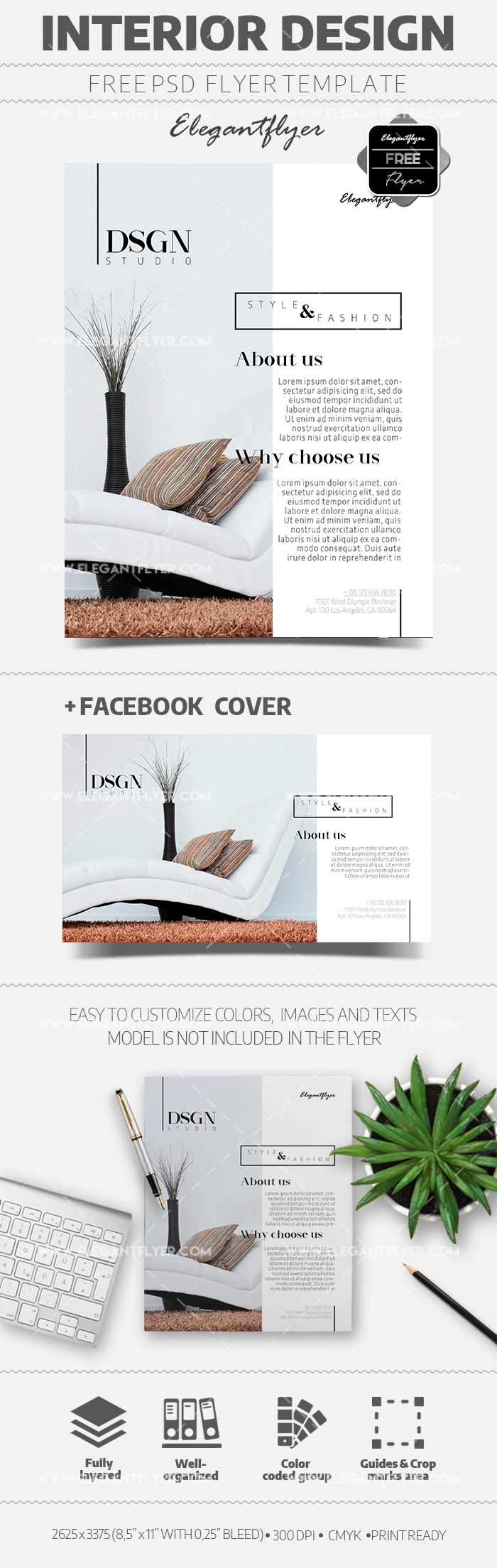 Interior Design – Free Flyer PSD Template