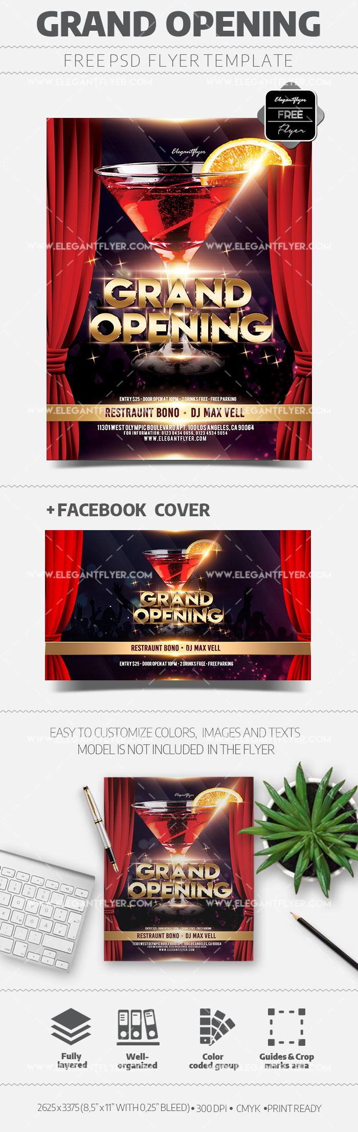 Grand Opening – Free Flyer PSD Template