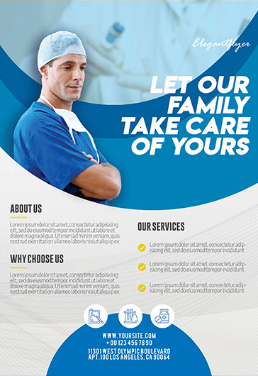 free health care flyer templates psd by elegantflyer