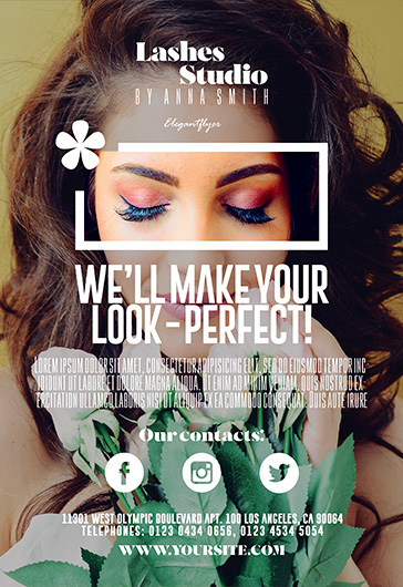 Lashes Studio – Flyer PSD Template