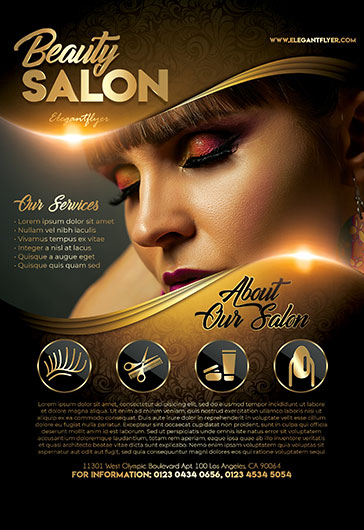 Beauty Salon V02 – Flyer PSD Template