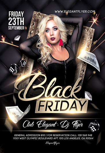 black friday flyer psd template - Free Psd Flyer Templates