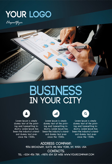 free business flyers templates by elegantflyer