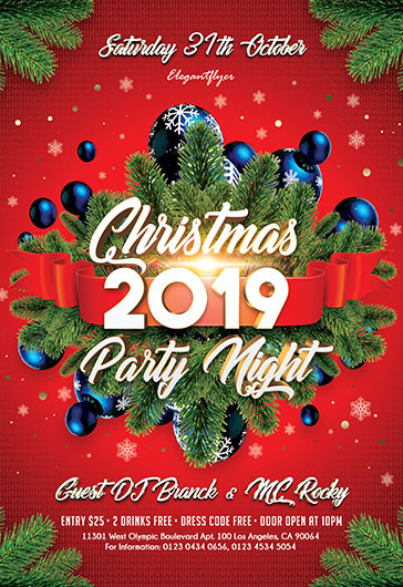 Christmas Party 2019 Flyer Psd Template By Elegantflyer