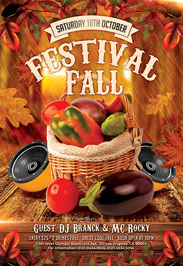 Fall Festivals – Free Flyer PSD Template