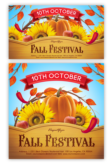 Fall Festivals – Free Facebook Event + Instagram template