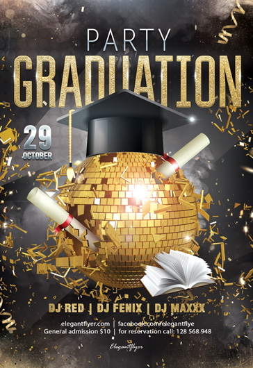 Graduation Party – Flyer PSD Template