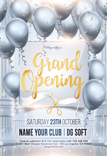 Grand Opening – Flyer PSD Template + Instagram template