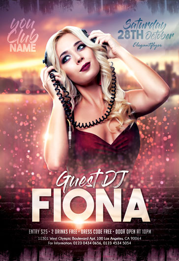 Guest DJ – Flyer PSD Template