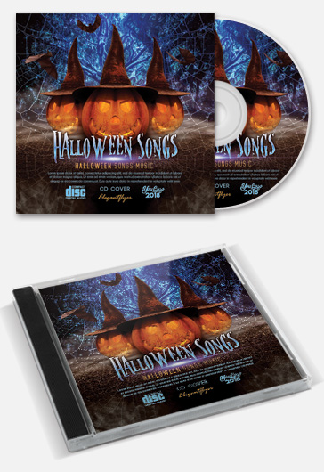 Halloween Songs – Free CD / Mixtape Cover PSD