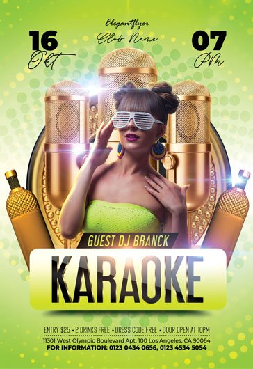Karaoke Party – Animated Instagram Stories + Instagram Post + Facebook Cover