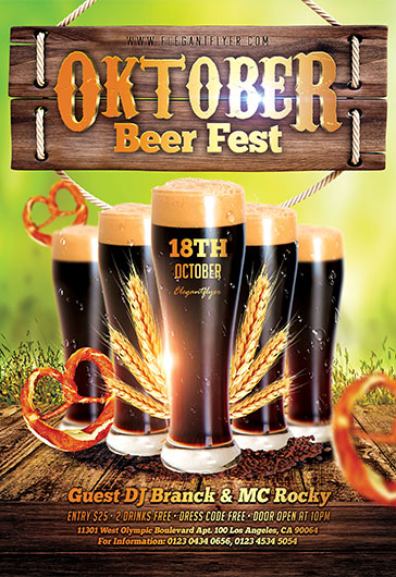 Oktober Beer Fest – Flyer PSD Template