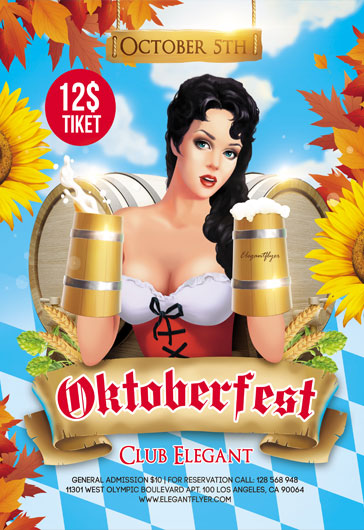 Oktoberfest – Flyer PSD Template + Instagram template