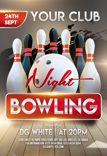 Bowling Party V02 – Flyer PSD Template