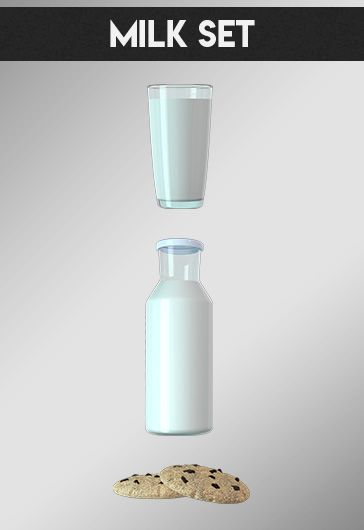 Milk Set – Free 3d Render Templates