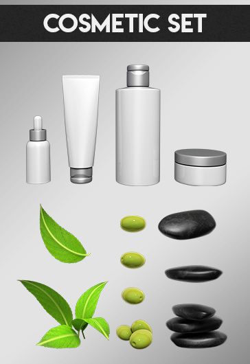 Cosmetic Set – Free 3d Render Templates