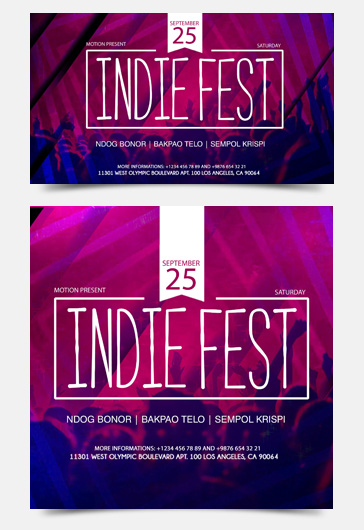 Indie Fest – Facebook Event + Instagram template