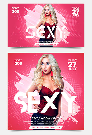 Sexy Party – Facebook Event + Instagram template