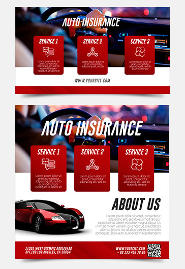 Auto Insurance – Free Facebook Event + Instagram template