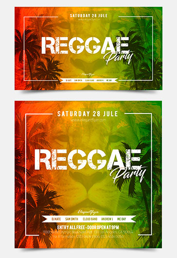 Reggae Party – Facebook Event + Instagram template