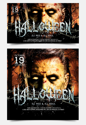 Halloween – Facebook Event + Instagram template