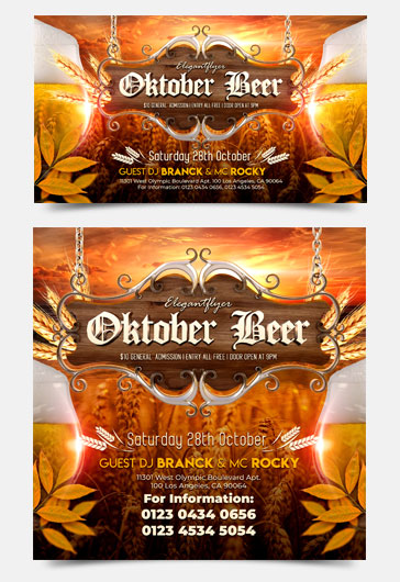 Oktober Beer – Free Facebook Event + Instagram template + Youtube Channel Banner
