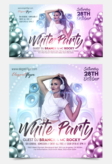 White Party – Facebook Event + Instagram template + Youtube Channel Banner