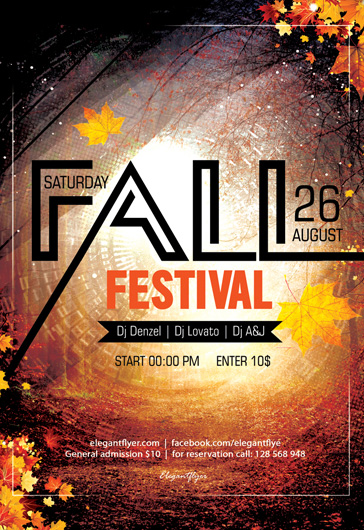 Fall Festival – Flyer PSD Template