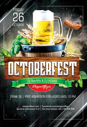 October Fest – Flyer PSD Template
