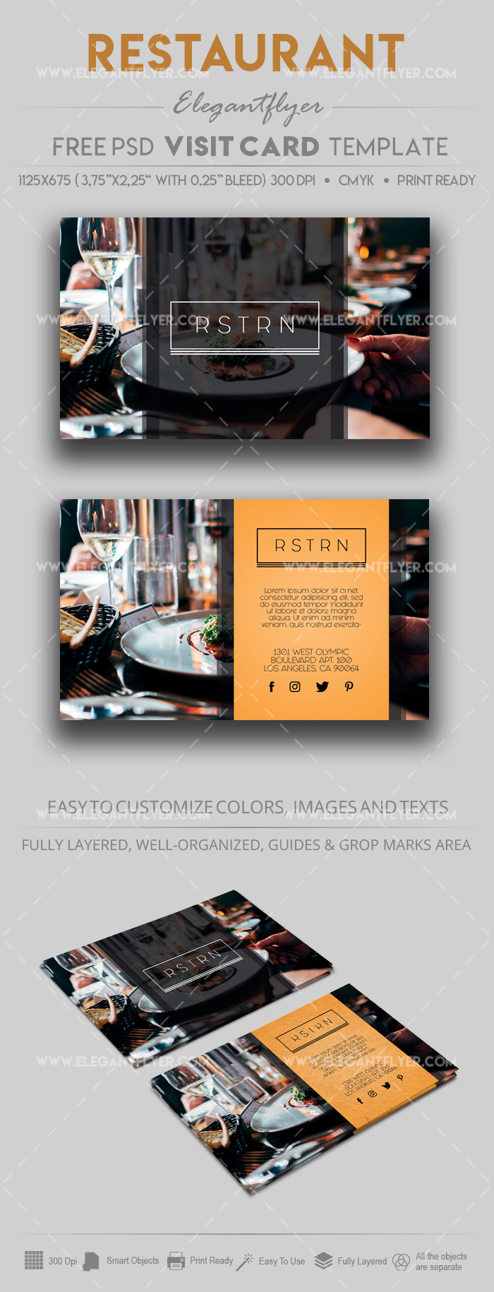 Restaurant – Free Business Card