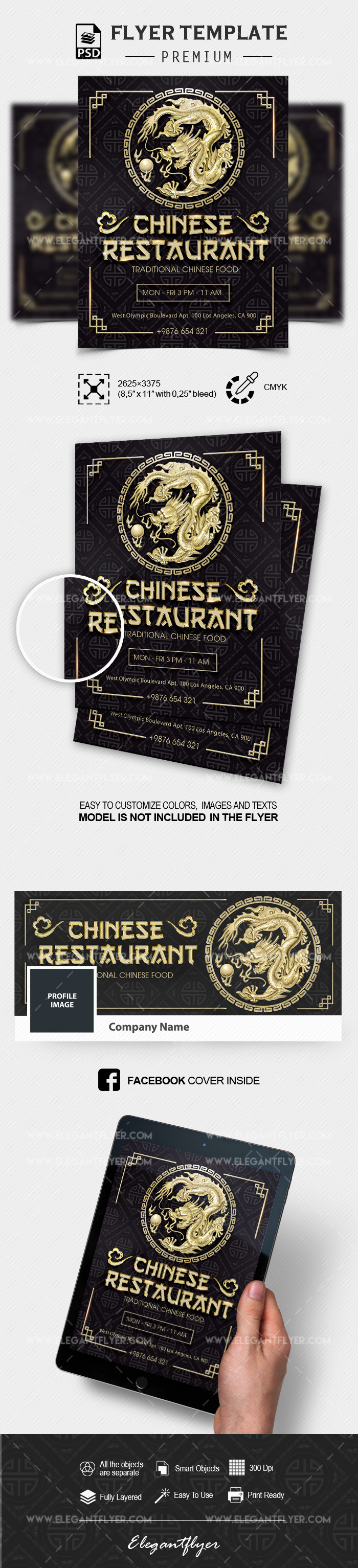 Chinese Restaurant – PSD Flyer Template