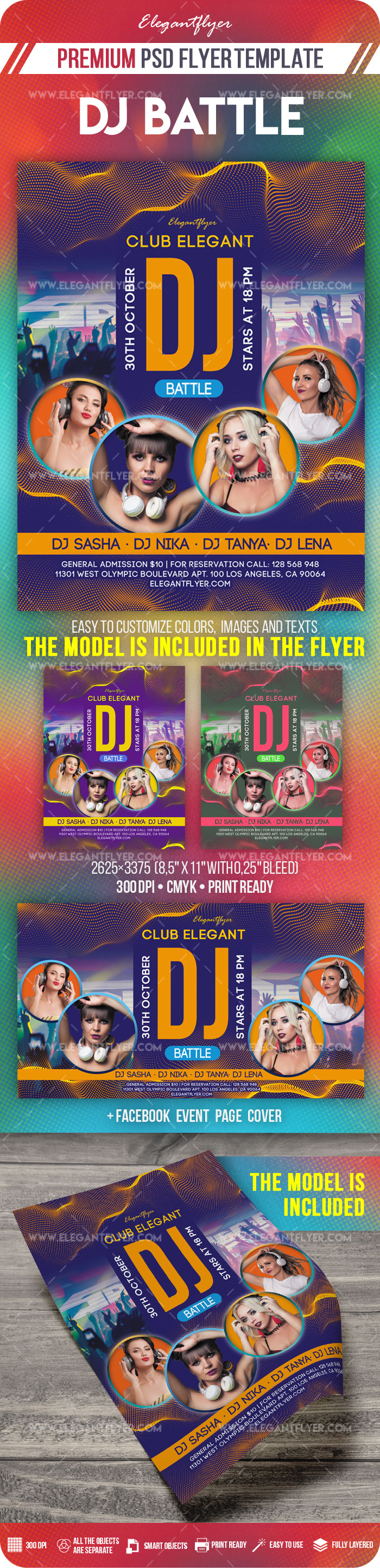 DJ Battle – Flyer PSD Template