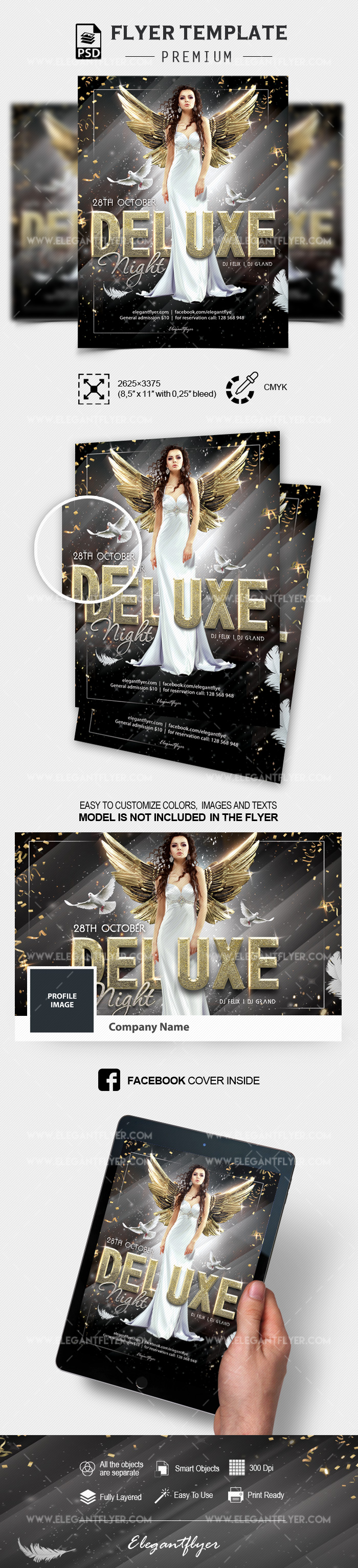 Deluxe Night Party – PSD Flyer Template