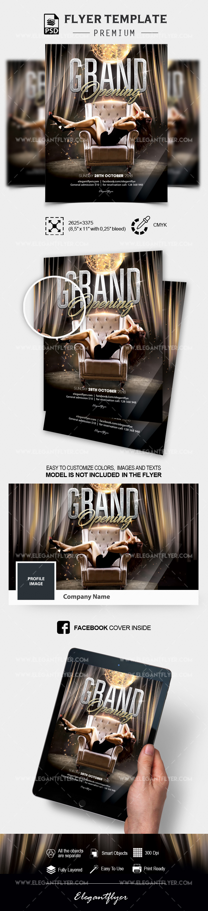 Club Grand Opening – Flyer Template in PSD