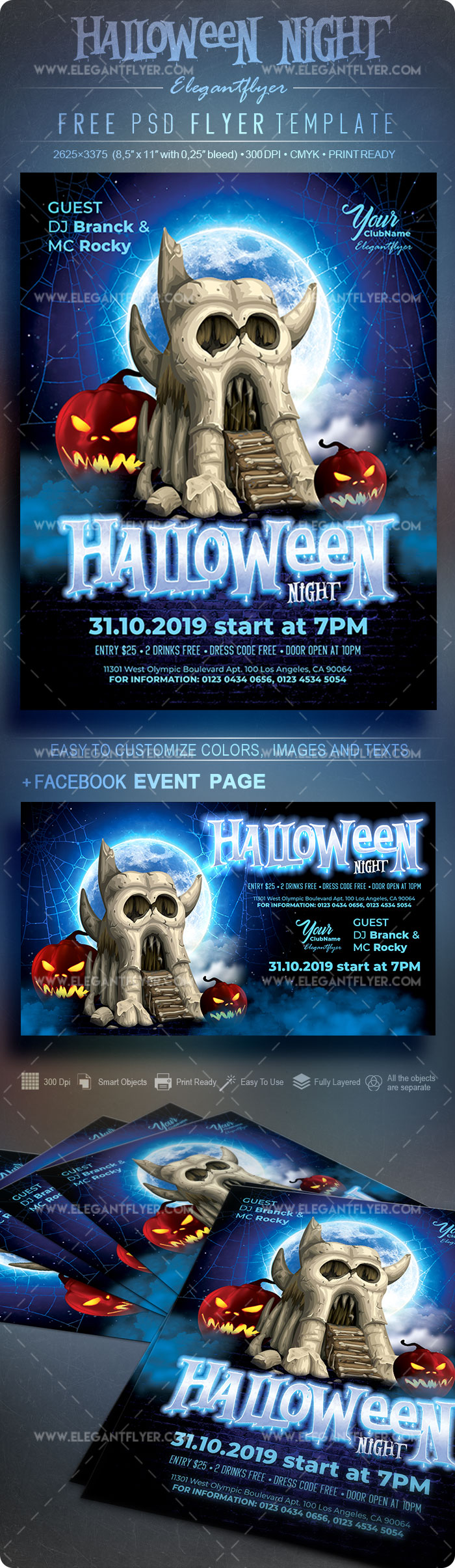 Halloween Night V02 – Free Flyer PSD Template