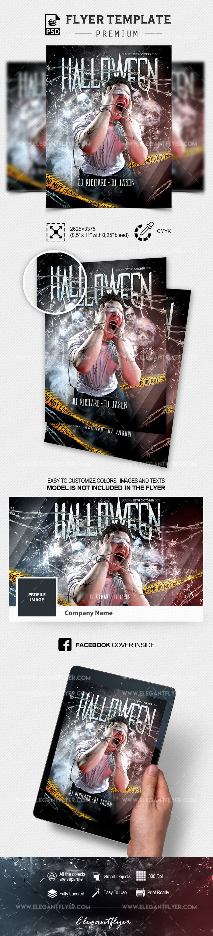 Scary Halloween – Flyer PSD Template