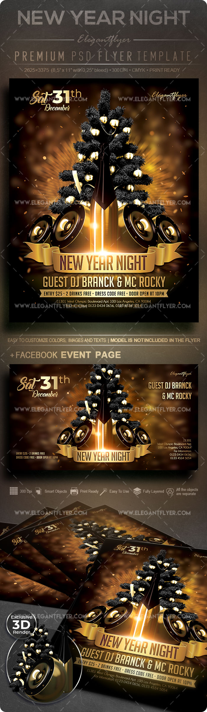 New Year Night – Flyer PSD Template