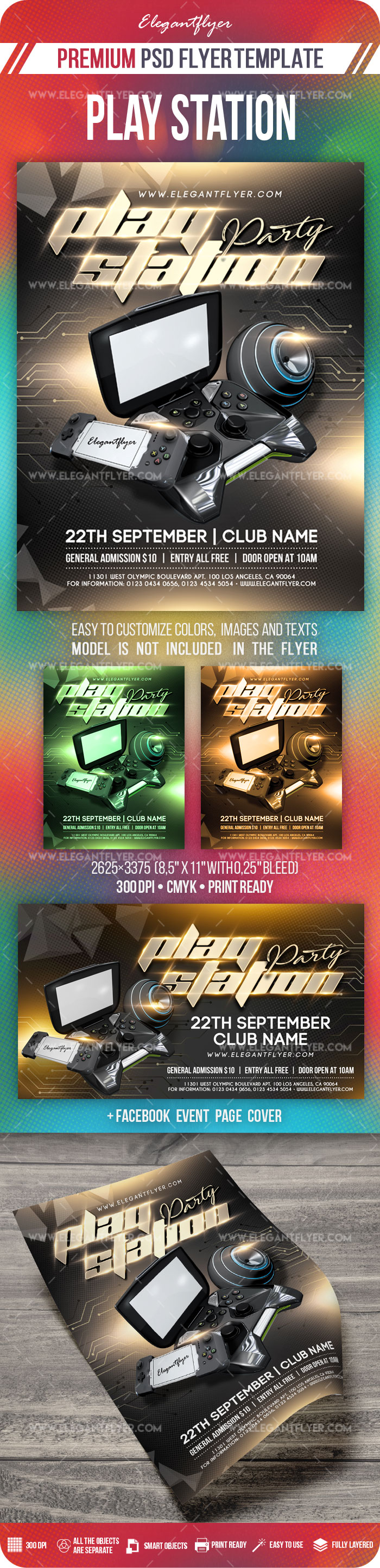 Play Station Party – Flyer PSD Template
