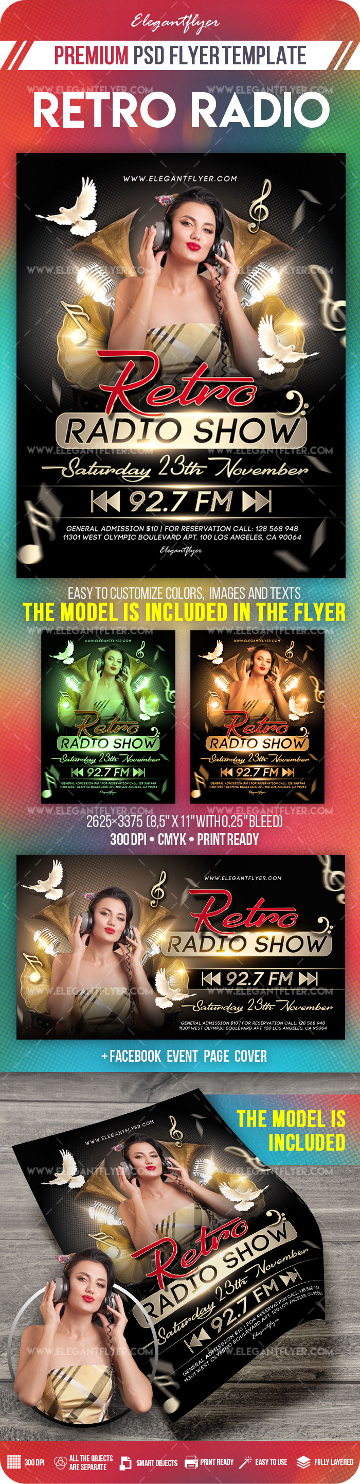 Retro Radio Show – Flyer PSD Template