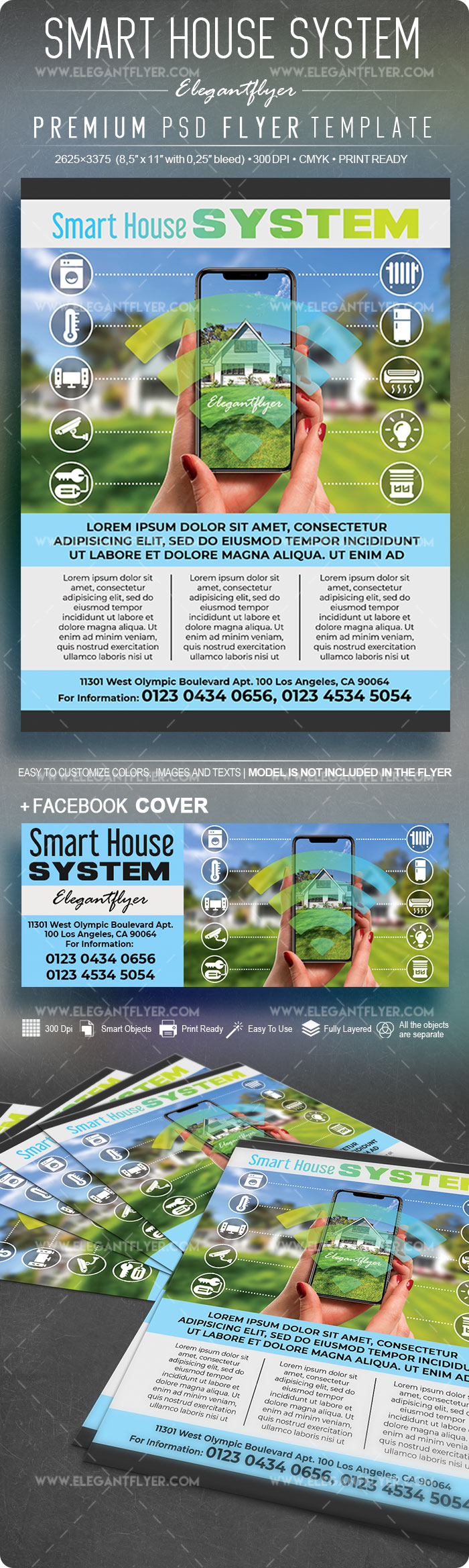 Smart House System – Flyer PSD Template