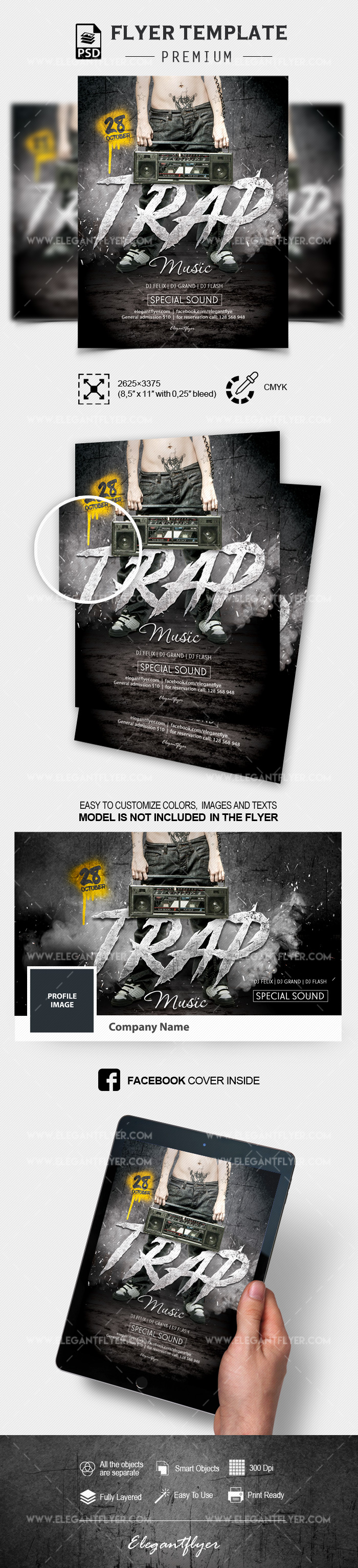Trap Music – Flyer PSD Template