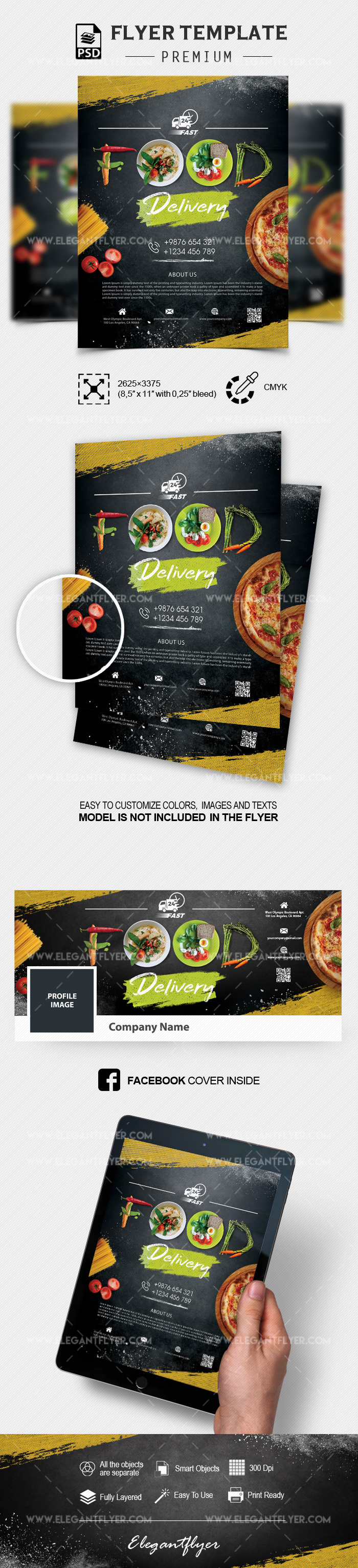 Food Delivery – PSD Flyer Template